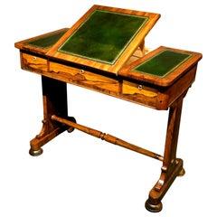 Fine Regency Period Writing Table / Sofa Table in Figured Rosewood, Circa 1825