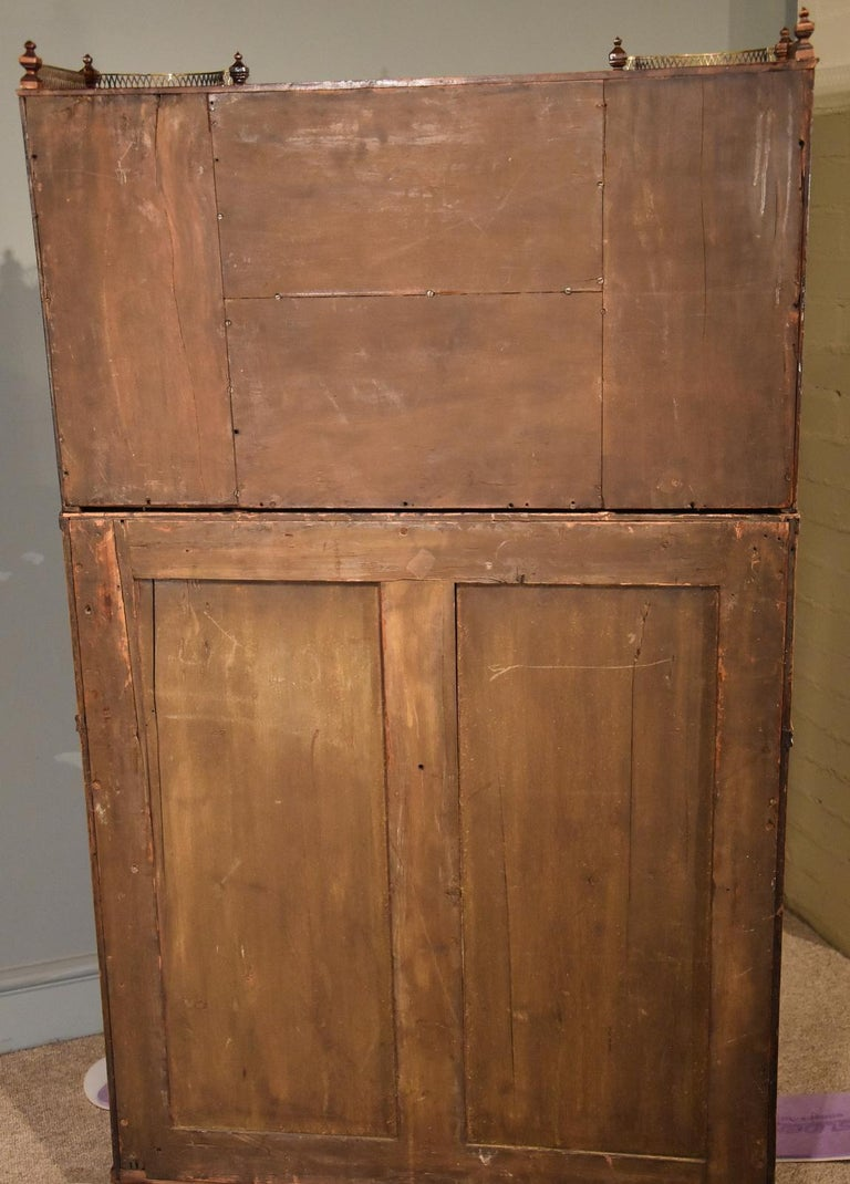 Fine Regency Satinwood Secretaire Cabinet For Sale 5
