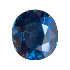 Fine Royal Blue Sapphire 2.18ct Oval Cut Rare Loose Gemstone