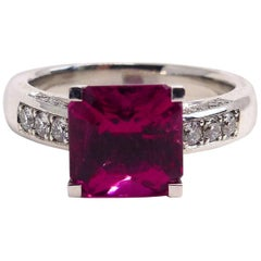 Fine Rubelite 18 Karat Rose Gold Ring