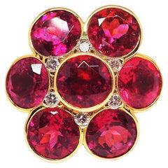 Leyser 18k Rose Gold Rubellite & Diamond Ring