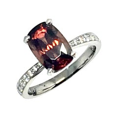 Diamond Rubellite Ring 18k Gold 4.01 tcw Women Certified