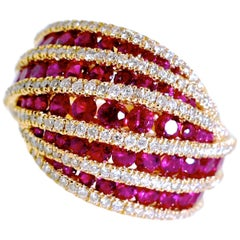 Fine Ruby and Diamond Ring