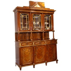 Fine Russian Neoclassical Ormolu and Brass-Mounted Mahogany Bookcase, China
