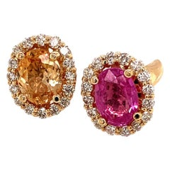 Diamond Sapphire Ring 4.30 TCW 14k Gold Women Certified