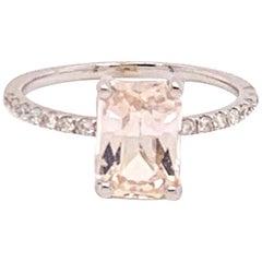 Diamond Sapphire Ring 2.29 TCW 14k Gold Women Certified