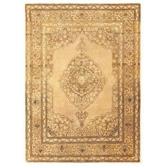 Fine Scatter Size Antique Persian Tabriz Rug. Size: 4 ft x 5 ft 8 in