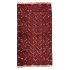 Fine Semi Antique Afghan Balouch Rug, Hand Knotted, circa 1930