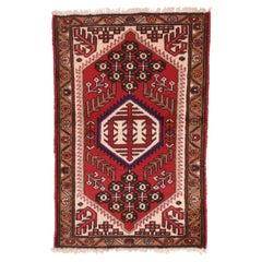 Fine Semi Antique Hamedan Persian Rug, Hand Knotted, circa 1950