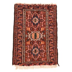 Fine Semi Antique Heriz Persian Rug, Hand Knotted, circa 1950