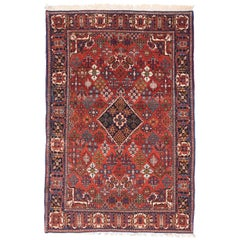 Fine Semi Antique Joshagan Persian Rug, Hand Knotted, circa 1930s