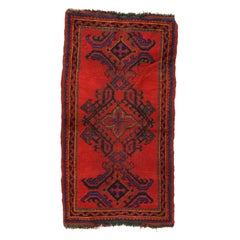 Fine Semi Antique Oushak Turkish Rug, Hand Knotted, circa 1930