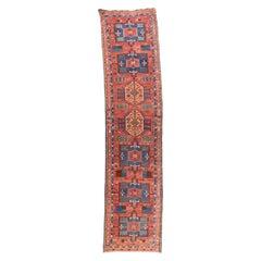 Antique Persian Heriz Long Rug
