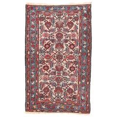 Fine Semi Antique Red Hamedan Persian Rug, Hand Knotted, circa 1930