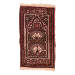 Vintage Afghan Balouch, Hand Knotted, circa 1950