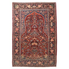Fine Semi Antique Vintage Kashan Persian Rug, Hand Knotted, circa 1930s