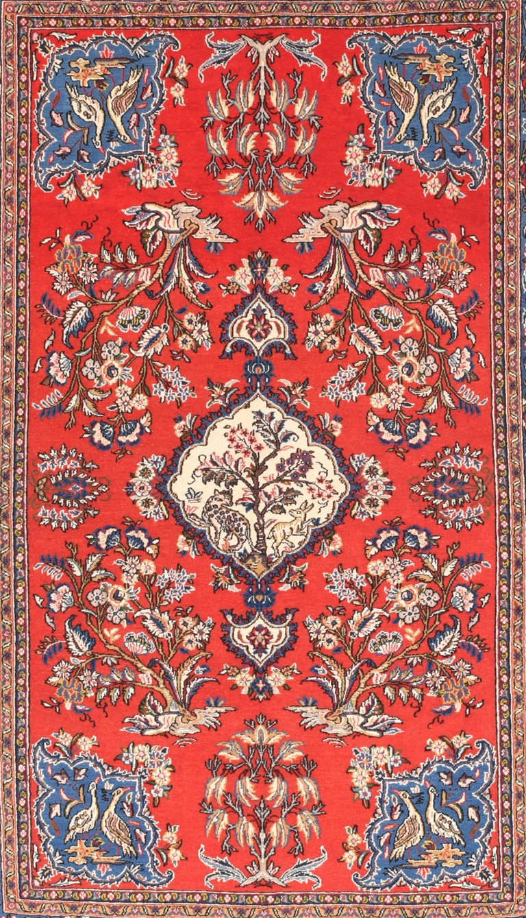 Qum Persian Rug Hand Knotted Circa