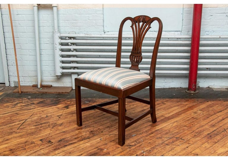 Fine Set of 10 Chippendale Style Mahogany Side Chairs In Good Condition For Sale In Bridgeport, CT