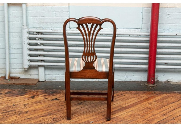 Fine Set of 10 Chippendale Style Mahogany Side Chairs For Sale 4