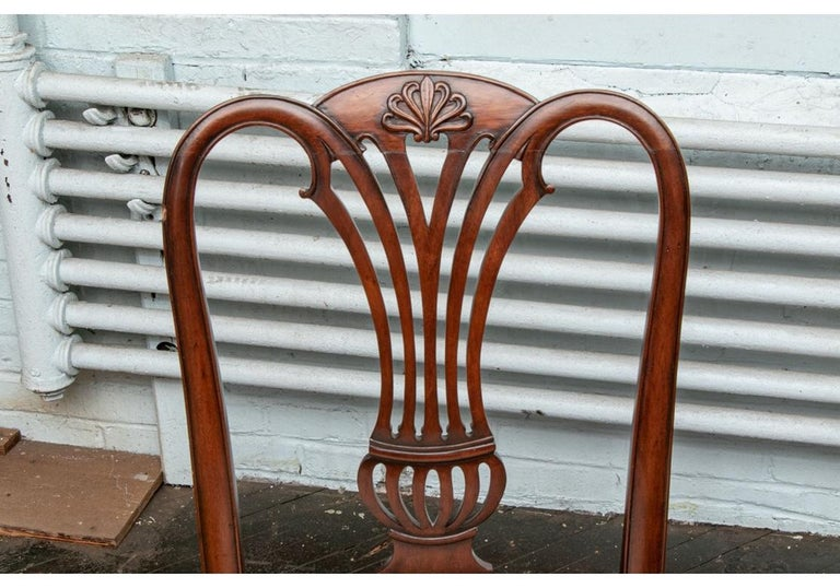 Fine Set of 10 Chippendale Style Mahogany Side Chairs For Sale 5
