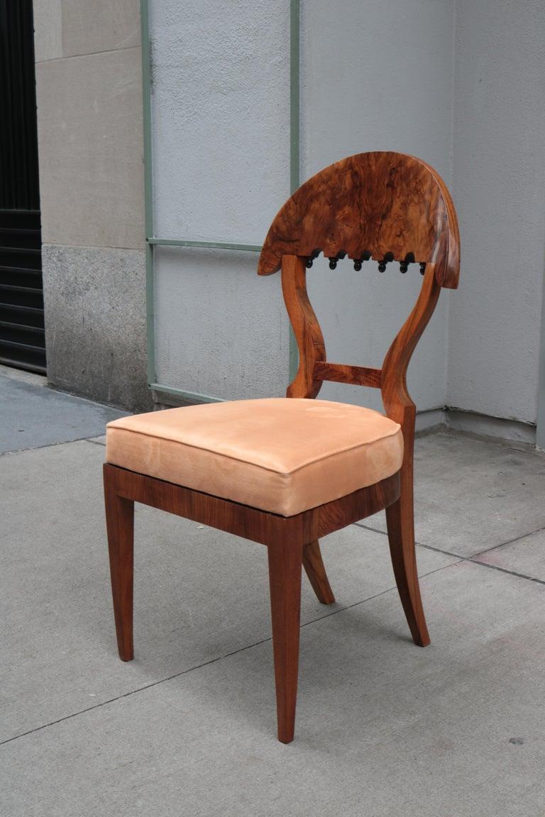 Austrian Fine Set of four Biedermeier Side Chairs For Sale