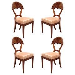 Fine Set of four Biedermeier Side Chairs