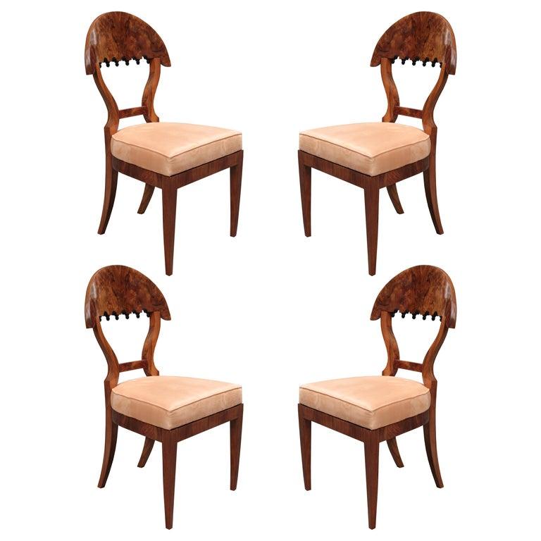 Fine Set of four Biedermeier Side Chairs For Sale
