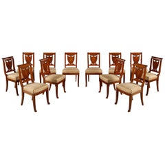 Fine Set of Twelve Chairs by Balny Jne