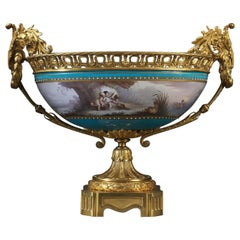 Fine Sèvres Gilt Bronze-Mounted Porcelain Coupe, circa 1885