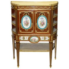 Fine Sevres Style Porcelain Mounted Secrétaire, 19th Century, After Henry Dasson