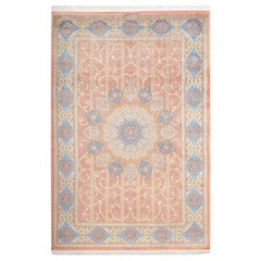 Fine Silk Vintage Qm Persian Rug. Size: 6 ft 8 in x 9 ft 11 in (2.03 m x 3.02 m)