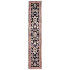 Fine Silk Vintage Qum Persian Runner Rug. Size: 2 ft 7 in x 13 ft