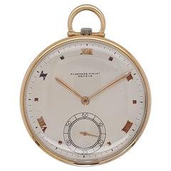 Fine Slim Vintage 18kt Yellow Gold Audemars Piguet Pocket Watch, 19 Jewels