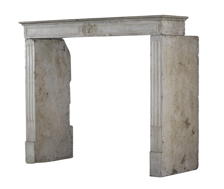 Small Fireplace Mantel Surrounds: Fine Small French Limestone Antique Fireplace Surround For