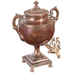 Fine Small Regency Copper Samovar