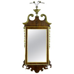 Fine Small Scale Hepplewhite Mahogany Parcel-Gilt Mirror, New York, c.1790-1810