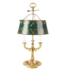 Fine Solid Brass Bouillotte Lamp