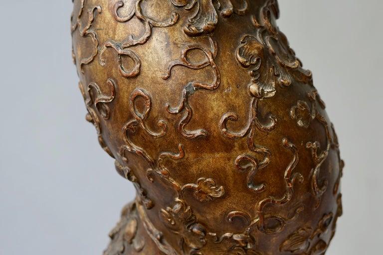 Feine spiralig gedrehte vergoldeten Säule 10