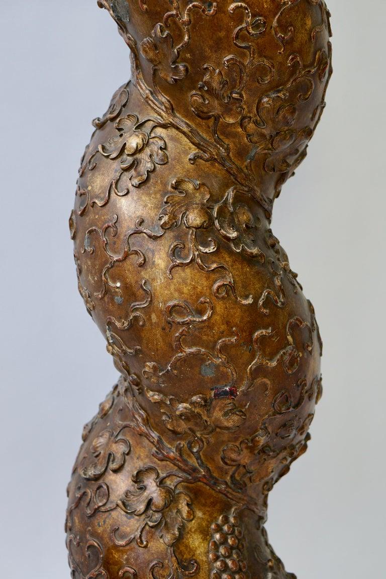 Feine spiralig gedrehte vergoldeten Säule 5