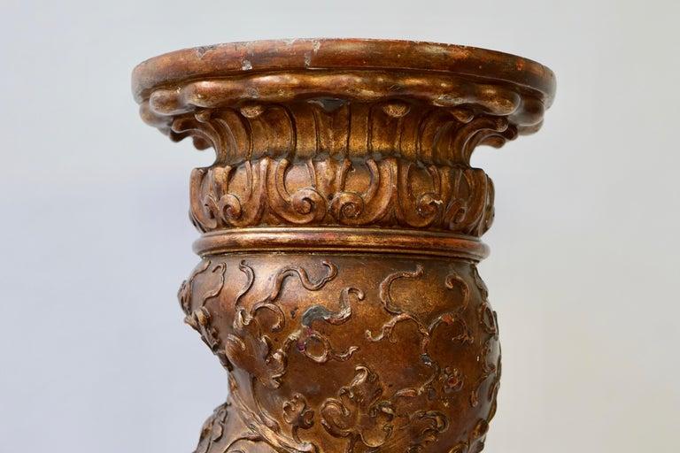 Feine spiralig gedrehte vergoldeten Säule 6