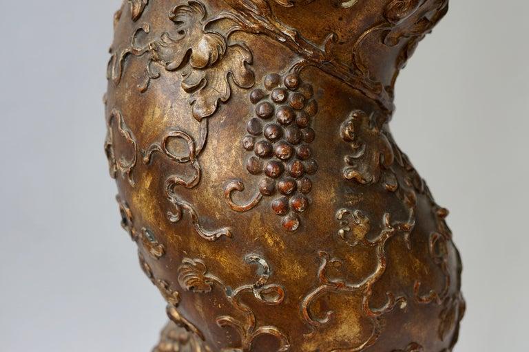 Feine spiralig gedrehte vergoldeten Säule 9