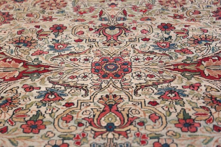 Fine Square Antique Persian Kerman Lavar Rug. Size: 11' x 12' (3.35 m x 3.66 m) For Sale 3