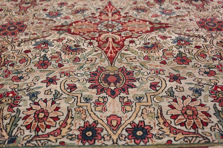 Fine Square Antique Persian Kerman Lavar Rug. Size: 11' x 12' (3.35 m x 3.66 m) For Sale 5