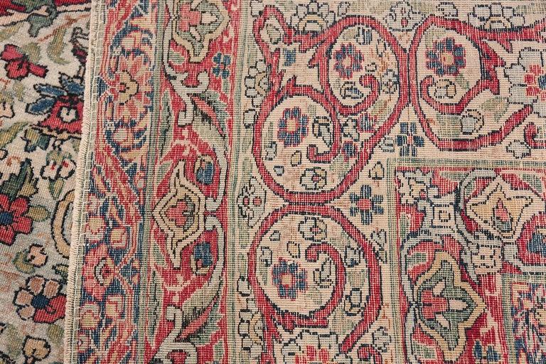 Fine Square Antique Persian Kerman Lavar Rug. Size: 11' x 12' (3.35 m x 3.66 m) For Sale 6