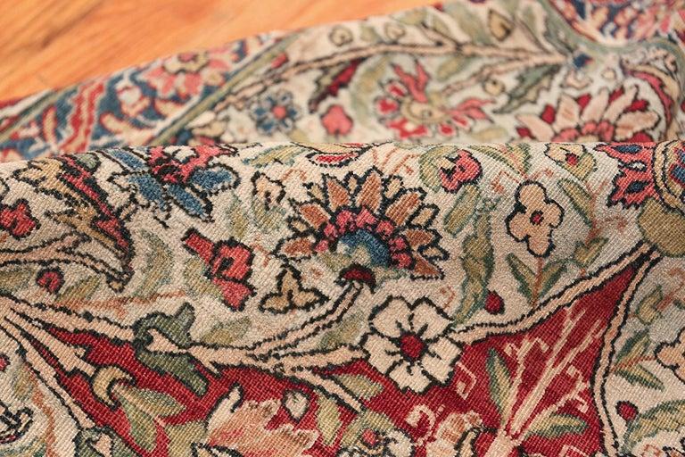 Fine Square Antique Persian Kerman Lavar Rug. Size: 11' x 12' (3.35 m x 3.66 m) For Sale 7