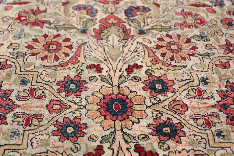 Fine Square Antique Persian Kerman Lavar Rug. Size: 11' x 12' (3.35 m x 3.66 m) For Sale 1