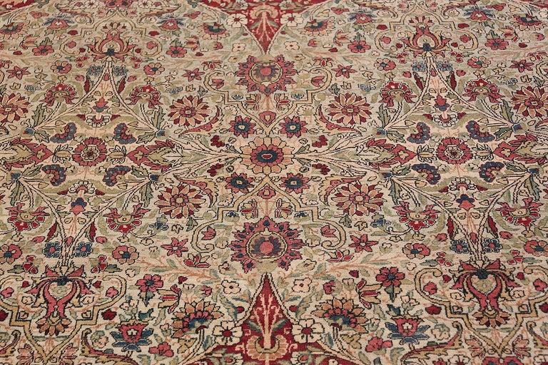 Fine Square Antique Persian Kerman Lavar Rug. Size: 11' x 12' (3.35 m x 3.66 m) For Sale 2