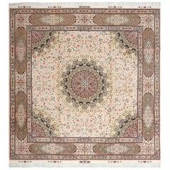 Fine Square Vintage Tabriz Persian Rug. Size: 9 ft 8 in x 9 ft 11 in