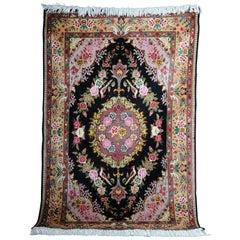 Fine Tabriz Cork Wool with Silk, circa 1980