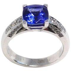 Leyser 18K White Gold Tanzanite & Diamonds Ring